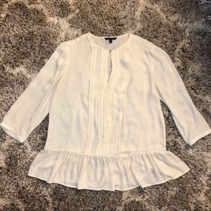Banana Republic Peplum Blouse - Off White